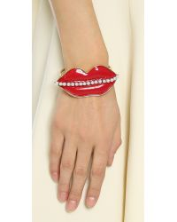 Erickson Beamon - Red So Real Cuff Bracelet - Lyst