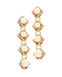 Erickson Beamon | Metallic Bermuda Triangle Earrings | Lyst