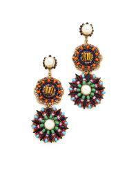 Erickson Beamon | Multicolor Imitation Pearl Safari Disc Earrings | Lyst