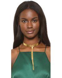 Eddie Borgo | Metallic Neo Tassel Collar Necklace | Lyst