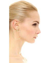 Elizabeth and James - Metallic Neri Hoop Earrings - Lyst
