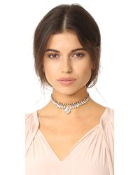 Elizabeth Cole - Metallic Emira Choker Necklace - Lyst
