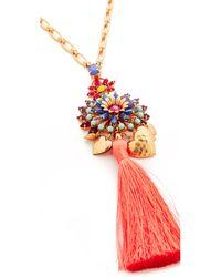 Elizabeth Cole - Multicolor Varro Statement Pendant Necklace - Lyst