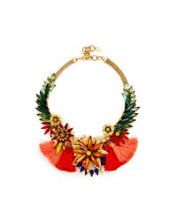 Elizabeth Cole | Red Statement Necklace | Lyst