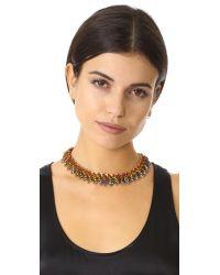 Elizabeth Cole | Multicolor Silvanna Necklace | Lyst