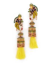 Elizabeth Cole | Multicolor Lola Tassel Earrings | Lyst