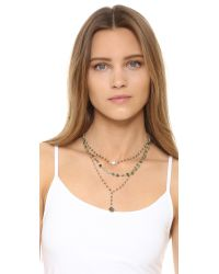 Ela Rae - Metallic Three In One Layer Midi Necklace - Lyst