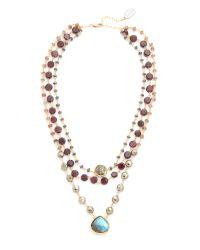 Ela Rae | Brown 3 In 1 Ara Necklace | Lyst