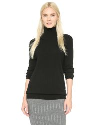 Equipment | Black Oscar Turtleneck Cashmere Sweater | Lyst