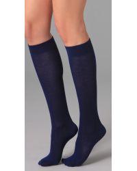 Falke | Blue Family Knee High Socks | Lyst