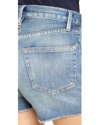 FRAME - Blue Le Cutoff Shorts - Lyst