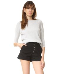 FRAME - White Le Boxy Sweater - Lyst