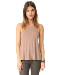 Free People | Blue Rib Slub Long Beach Tank | Lyst