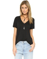 Free People | Black Pearls Tee | Lyst