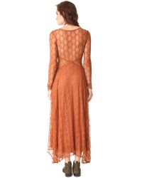 Free People Multicolor Guinevere Lace Maxi Dress