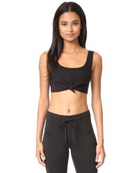 Free People | Black Movement Flashdance Crop Top | Lyst