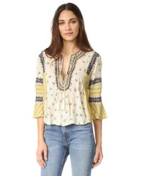 Free People   White But I Like It Top   Lyst