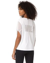 Free People - White Movement Wild Mesh Graphic Tee - Lyst