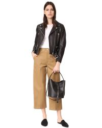 Furla Black Vittoria Small Drawstring Bag