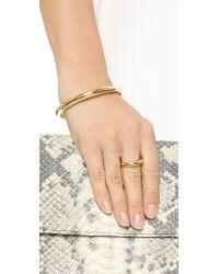 Gabriela Artigas Metallic Rising Tusk Cuff Bracelet