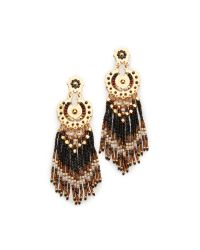 Gas Bijoux - Brown Fringe Earrings - Lyst