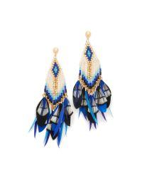 Gas Bijoux - Blue Huichol Plume Earrings - Lyst