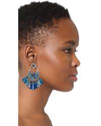 Gas Bijoux - Blue Eventail Earrings - Lyst