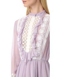Giambattista Valli Blue Long Sleeve Dress