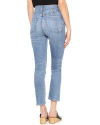 Goldsign - Blue Glenn High Rise Ankle Jeans - Lyst