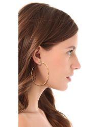 Gorjana - Metallic Laurel Large Hoop Earrings - Lyst
