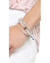 Gorjana - Gray Power Gemstone Bracelet For Healing - Lyst