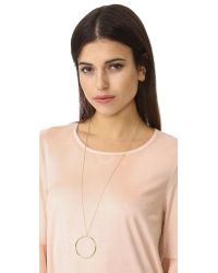 Gorjana - Metallic Autumn Circle Pendant Necklace - Lyst