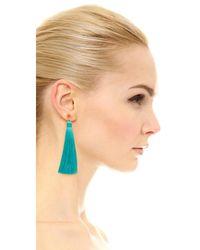 Gorjana - Multicolor Tulum Gemstone Tassel Earrings - Lyst