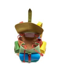 Grafea Multicolor Leather Backpack