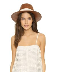 Hat Attack | Brown Panama Continental Hat | Lyst