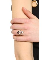 Holly Dyment - Metallic Marquis Ring With Pink Sapphire - Lyst