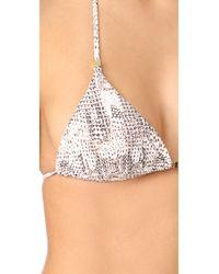 Heidi Klum - Multicolor Sun Dappled Decadence Triangle Top - Lyst