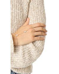 Jacquie Aiche - Multicolor Moonstone & Diamond Hand Chain - Lyst