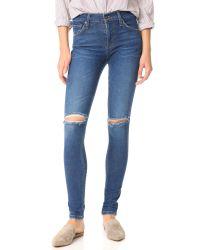 James Jeans | Blue Mid Rise James Twiggy Legging Jeans | Lyst