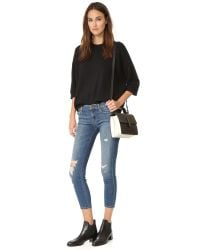 J Brand Blue Low-rise Cropped Skinny Jeans