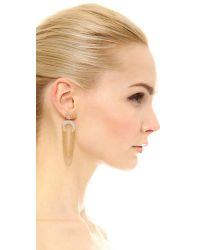 Joanna Laura Constantine - Metallic Horn Fringe Earrings - Lyst