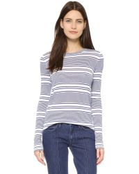 Jenni Kayne - Gray Long Sleeve Crew Pullover - Lyst