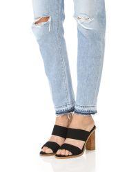 Joie | Black Banner Heel Sandals | Lyst