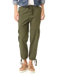 James Perse | Multicolor Slim Cropped Cargo Pants | Lyst