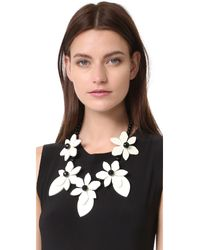 kate spade new york - Black Lovely Lillies Statement Necklace - Lyst