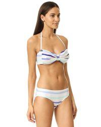 kate spade new york - Blue Provincetown Bandeau Bikini Top - Lyst
