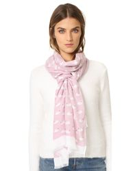 kate spade new york Multicolor Swans Oblong Scarf