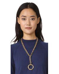 kate spade new york   Metallic Goldie Links Pendant Necklace   Lyst