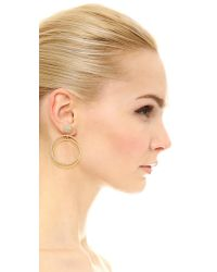 Kate Spade - Metallic Ring It Up Drop Hoop Earrings - Lyst