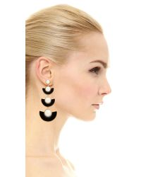 kate spade new york - Black Taking Shapes Statement Earrings - Lyst